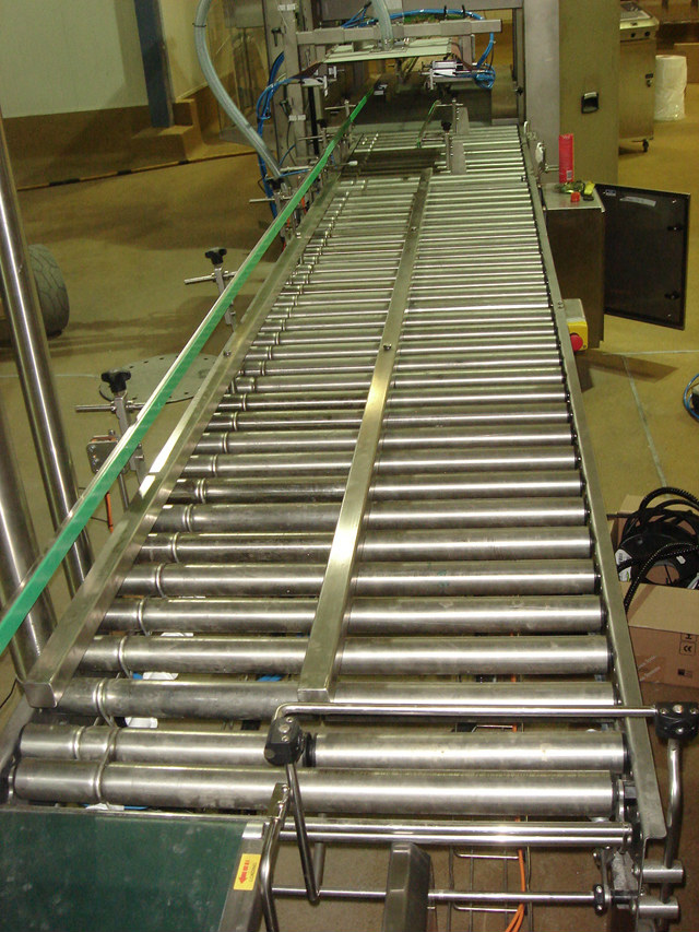 Stainless steel roller conveyors